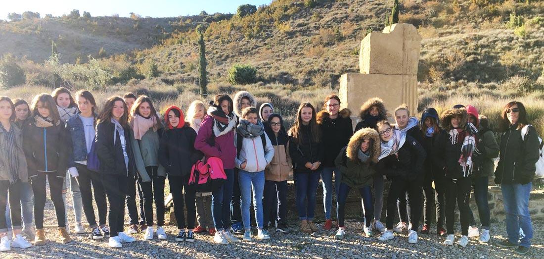 Un colegio de Saint-Palais visita Santa Criz