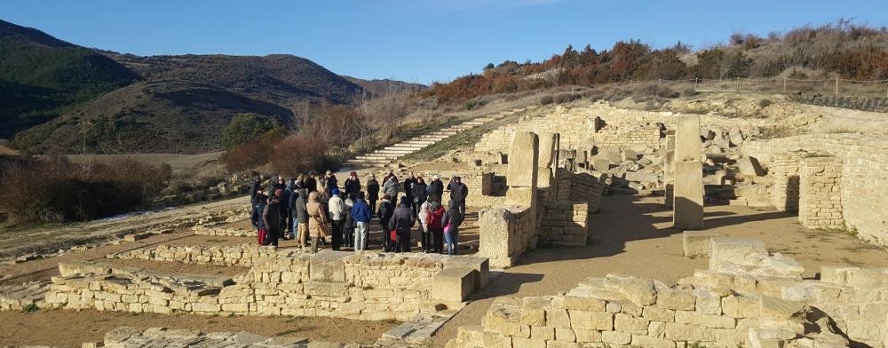 Visita a Santa Criz de Eslava, el Día de Navarra